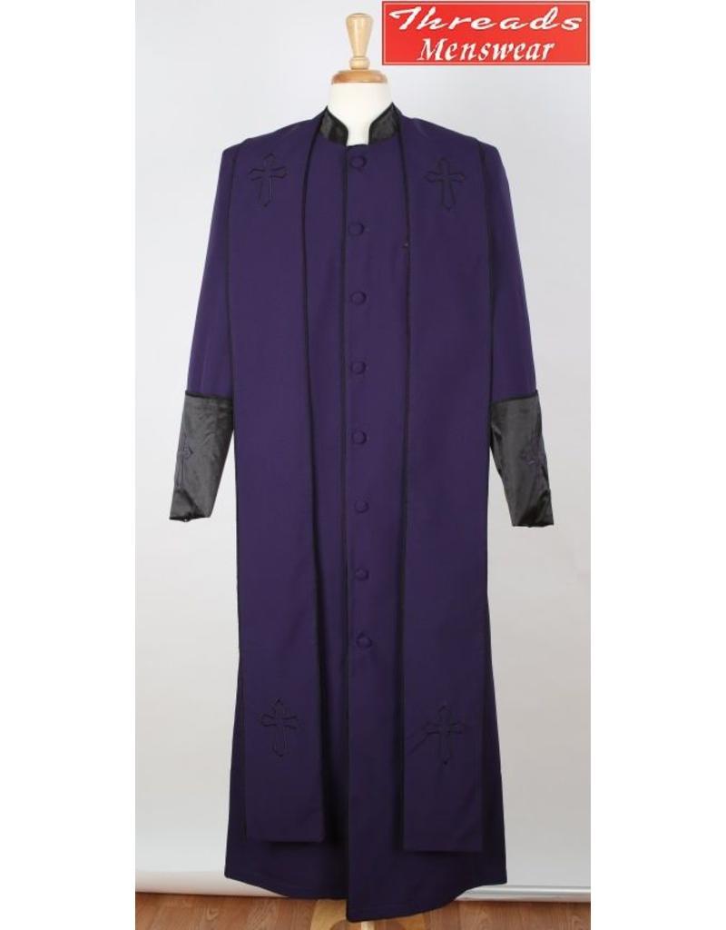 Royal Diamond Royal Diamond Robe & Stole - Purple/Black