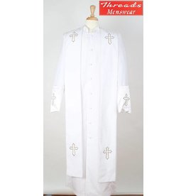 Royal Diamond Royal Diamond Robe & Stole - White/Gold