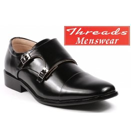 Majestic Majestic 95702 Monk Strap Dress Shoe - Black
