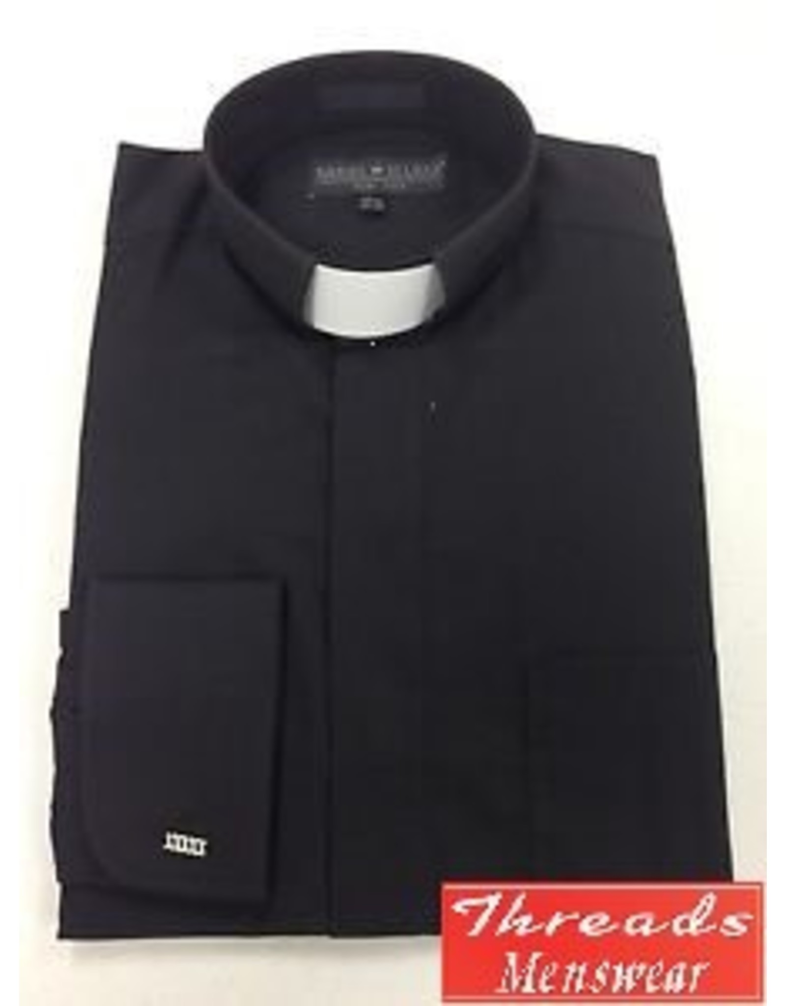Daniel Ellissa Tab Collar Clergy Shirt -  Black
