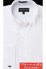 Daniel Ellissa Tab Collar Clergy Shirt -  White