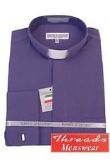 Daniel Ellissa Tab Collar Clergy Shirt -  Purple
