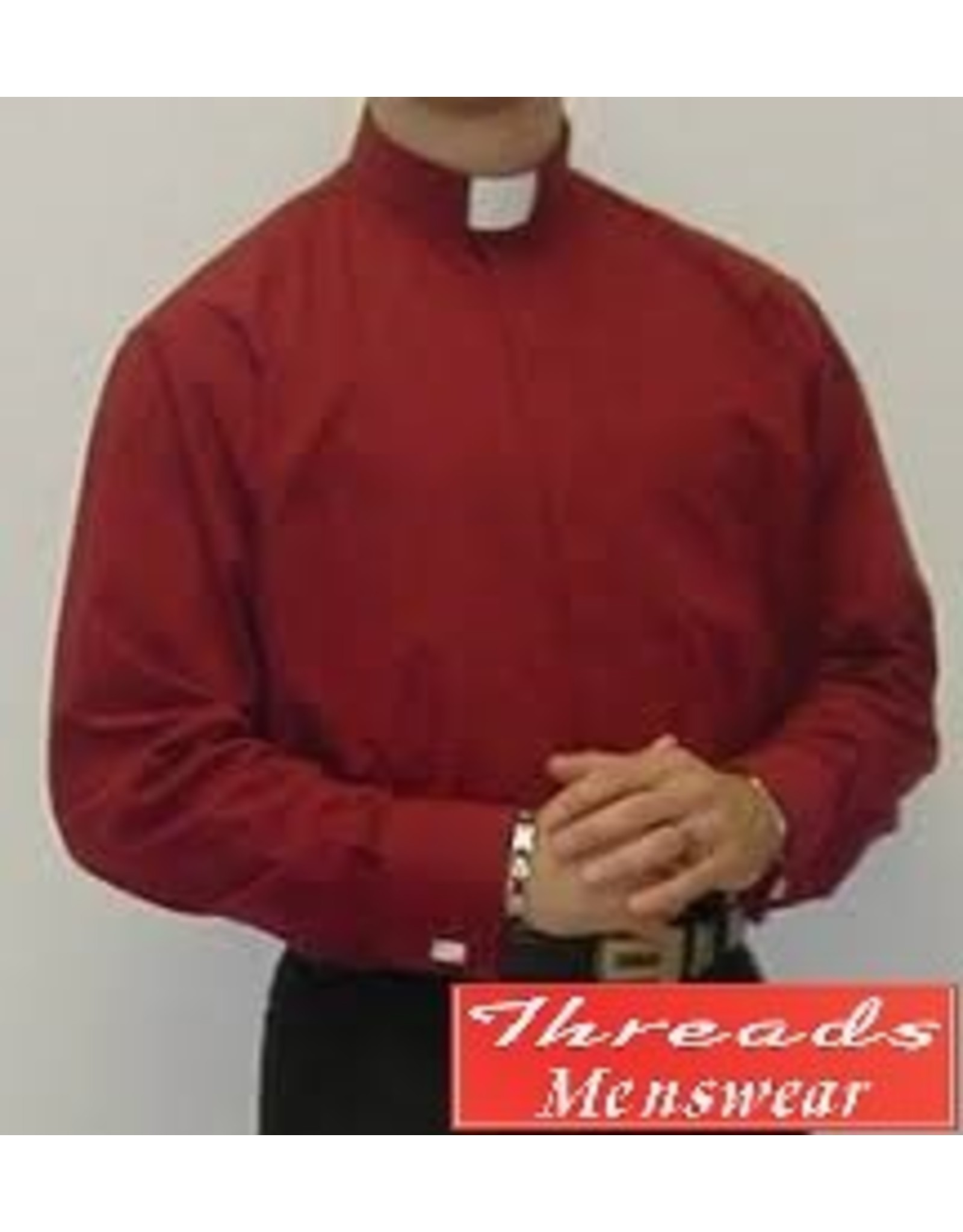 Daniel Ellissa Tab Collar Clergy Shirt -  Burgundy