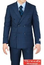 Lorenzo Bruno Lorenzo Bruno Double Breast Suit M662WD Blue