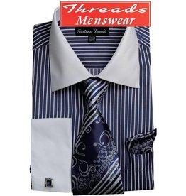 Fortino Landi Fortino Landi Shirt Set - FL631 Navy Blue