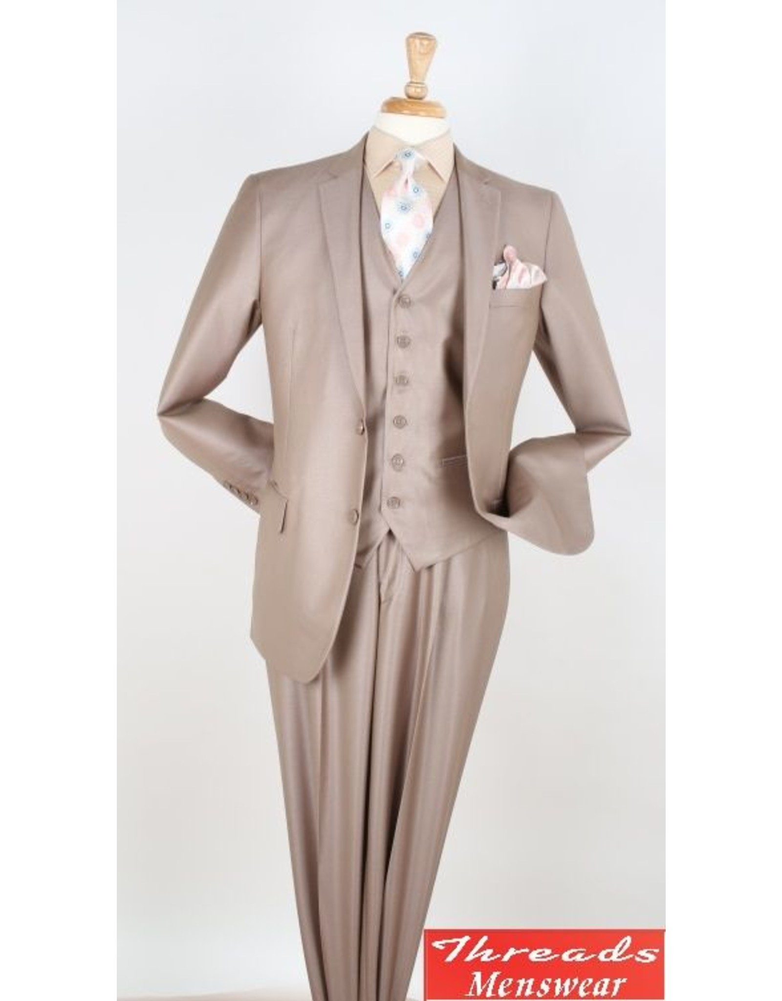 Royal Diamond Royal Diamond Vested Suit - CX6 Tan