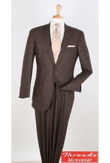 Royal Diamond Royal Diamond Wool Suit - H767 Brown Tweed