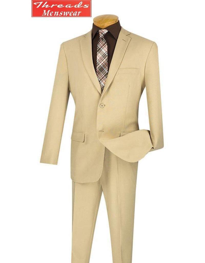 Lucci Lucci Slim Fit Suit - S2PP Beige