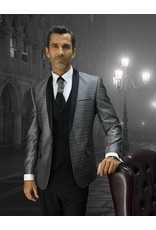 Statement Statement Bellagio-7 Suit, Vest, and Bow Tie - Black