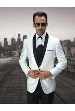 Statement Statement Bellagio-7 Suit, Vest, and Bow Tie - White