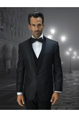 Statement Statement Bellagio-6 Suit, Vest, and Bow Tie - Black