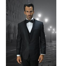 Statement Statement Bellagio-6 Suit, Vest, and Bow Tie - Black
