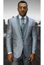 Statement Statement Bellagio-8 Suit, Vest & Bow Tie - Silver Gray