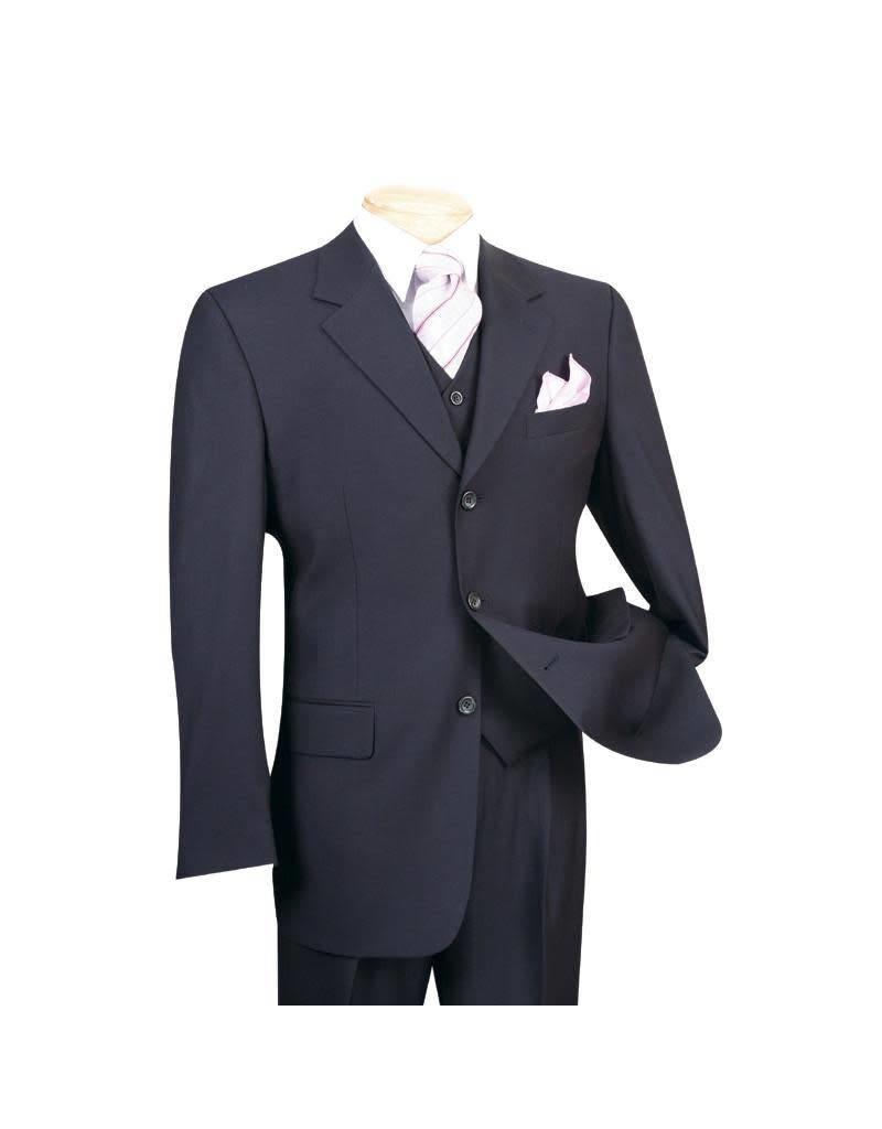 Vinci Vinci Vested Suit - 3TR Navy Blue