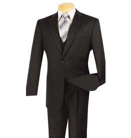 Vinci Vinci Shadow Stripe Suit - V2TT8 Black