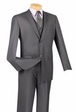 Vinci Vinci Slim Fit Vested Suit - SV2900 Heather Gray