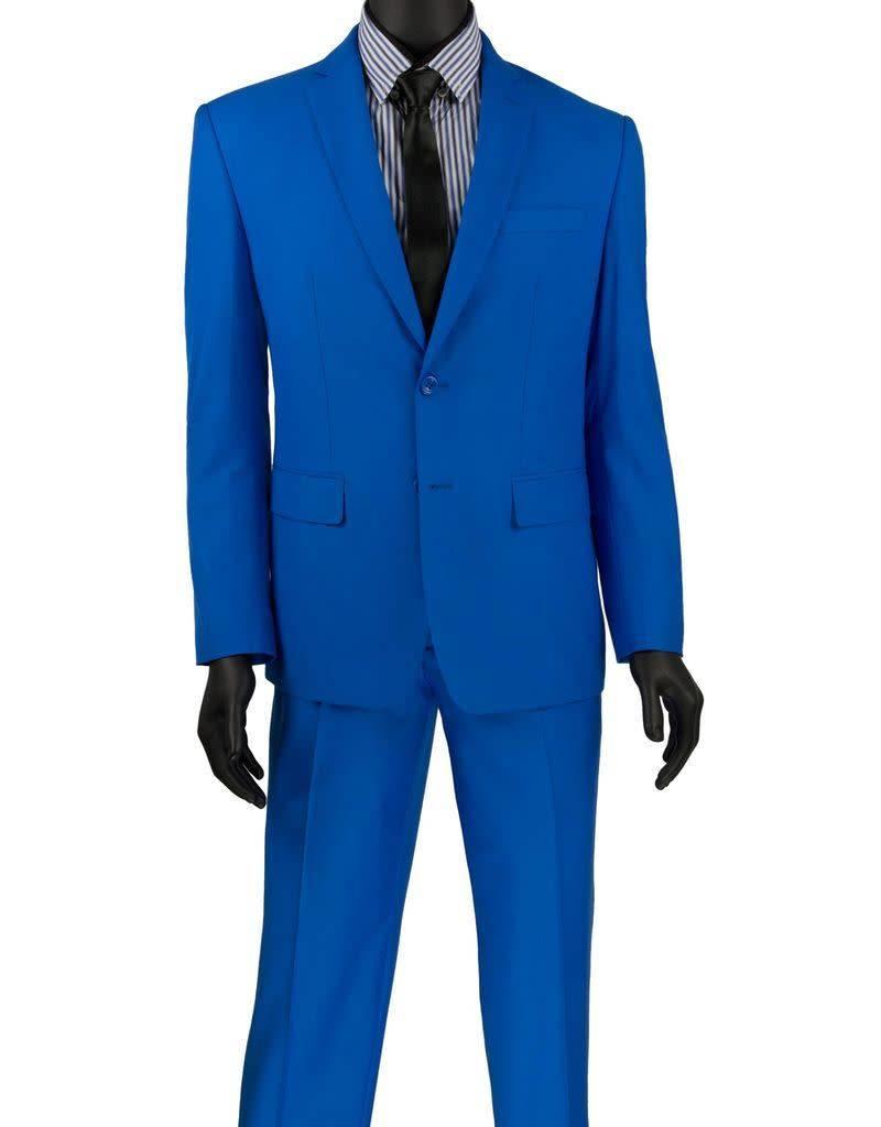 Vinci Vinci Slim Fit Suit - SC900 Royal Blue