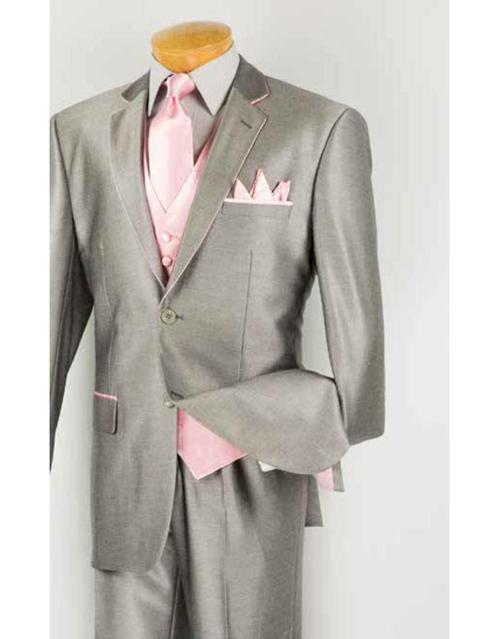 Vinci Vinci Vested Suit - 23SS4 Gray/Pink