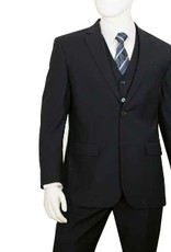 Lorenzo Bruno Lorenzo Bruno Vested Suit C602FV Black