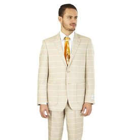 Lorenzo Bruno Lorenzo Bruno Modern Fit Suit - M62CB Wheat