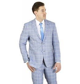 Lorenzo Bruno Lorenzo Bruno Modern Fit Suit - M62CB Chambray Blue