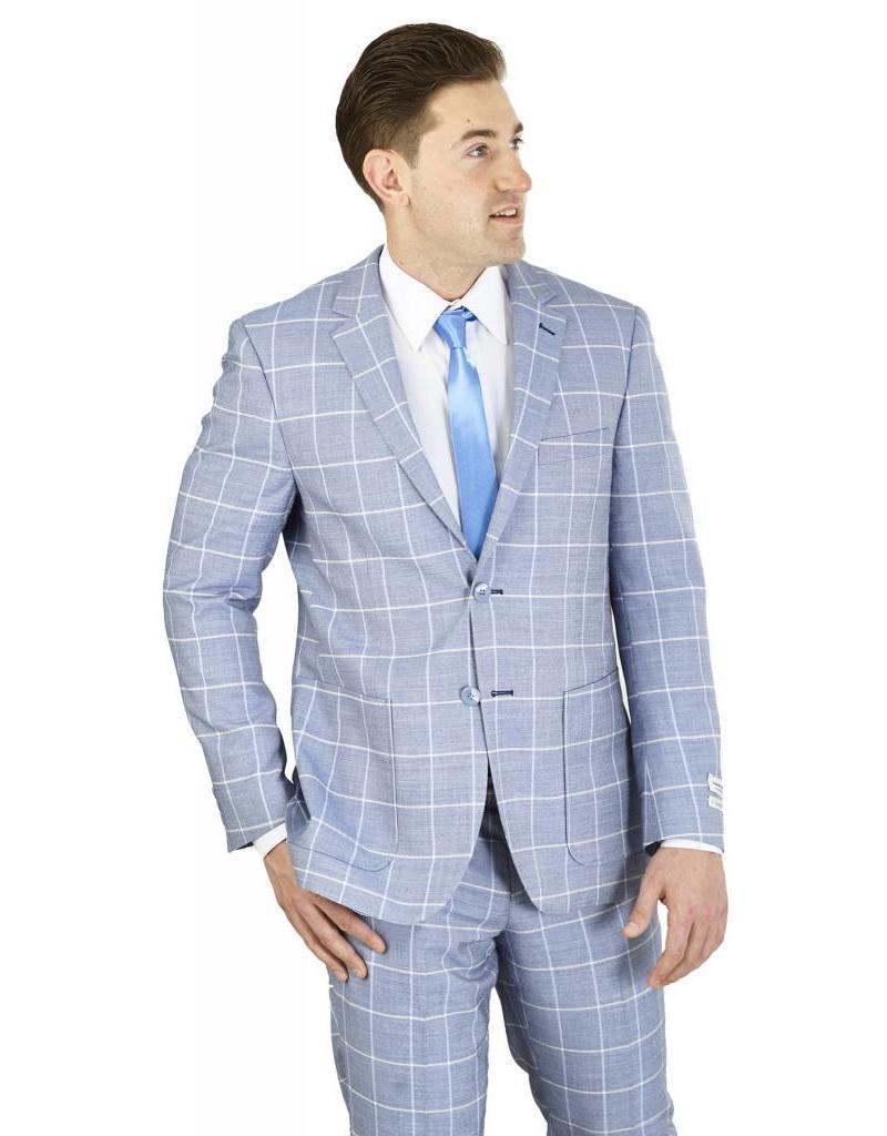 Lorenzo Bruno Lorenzo Bruno Modern Fit Suit - M62CB Chambray Blue
