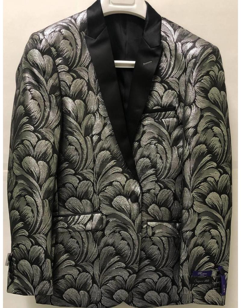Retro Paris Retro Paris Slim Fit Blazer- 526 Black/Silver