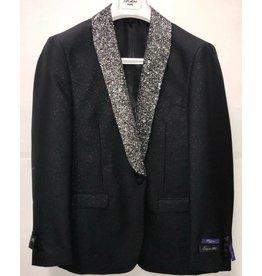 Retro Paris Retro Paris Slim Fit Blazer- 508 Black/Silver