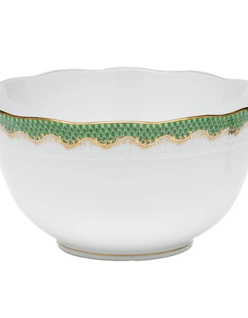 Herend Jade Green Fishscale Round Bowl