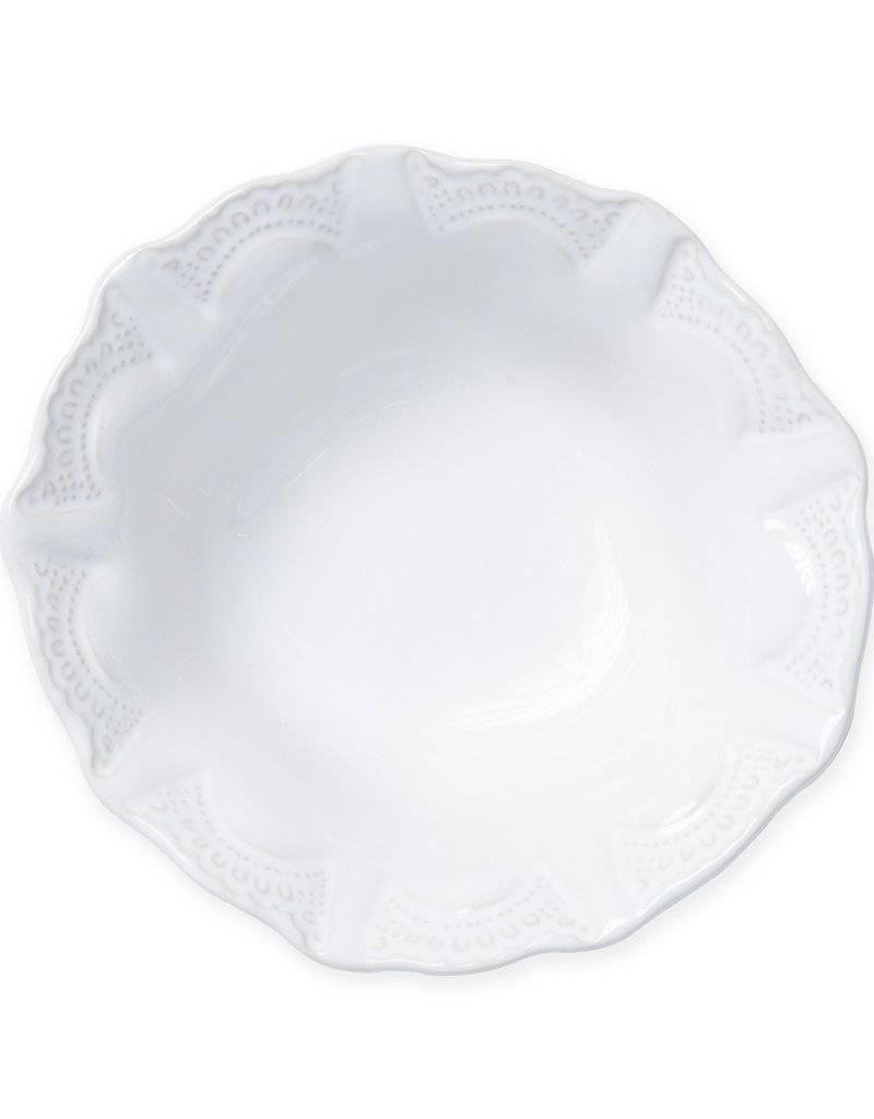 JESSLYN BRANTLEY Vietri - Incanto Stone White Lace Cereal Bowl