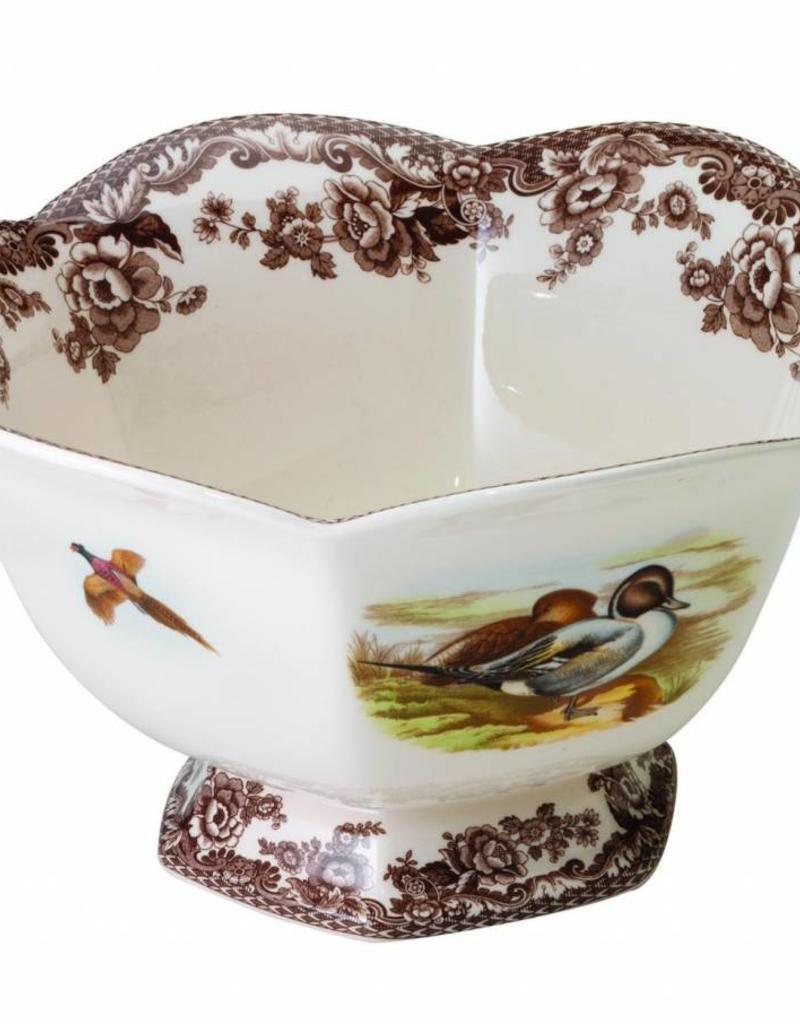 "Spode- 1893384 Hexagonal Footed Bowl 8.5"""