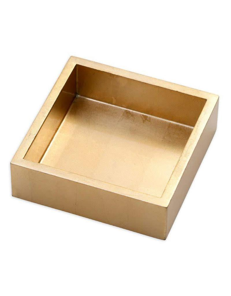 Gold Lacquer Cocktail Napkin Holder