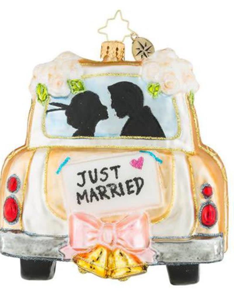 Christopher Radko Ornament Uptown Honeymoon