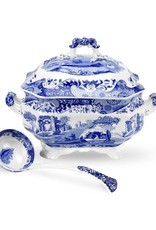 "Spode  Blue Italian Soup Tureen & Lade 5 QT/10"""