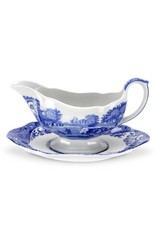 Spode Blue Italian Sauceboat & Stand
