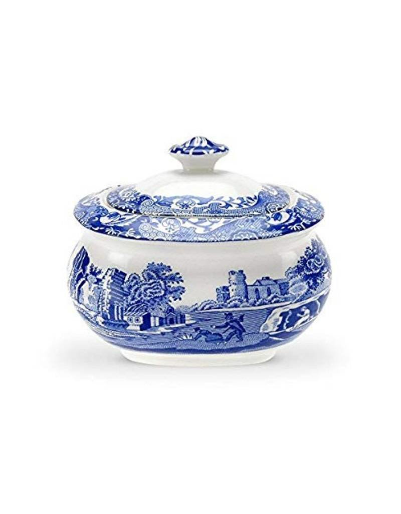 Spode Blue Italian Covered Sugar Bowl 9 oz.