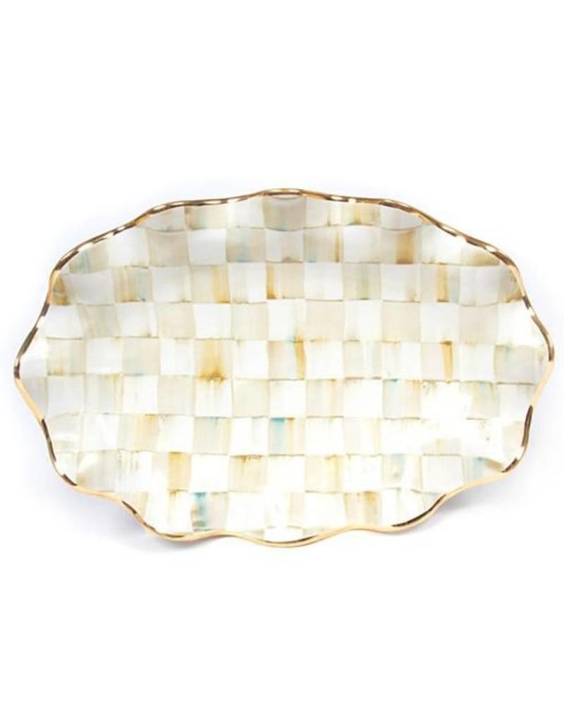Mackenzie Childs Parchment Check Serving Platter