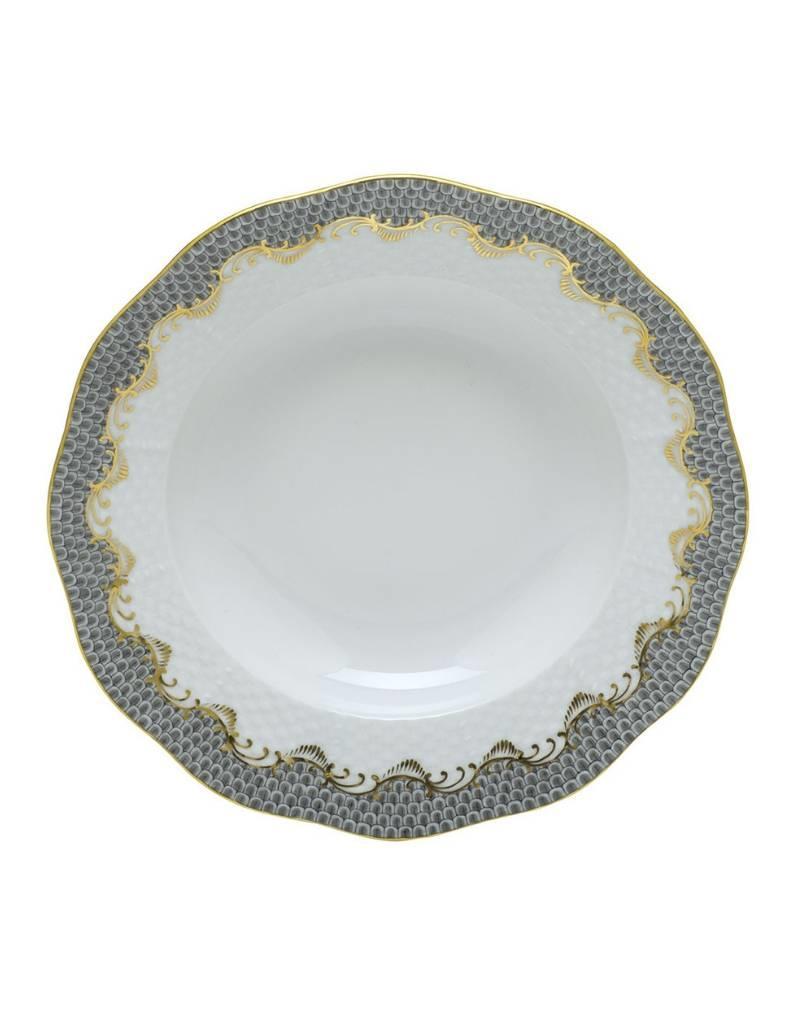 Herend Fishscale Gray Dessert Plate