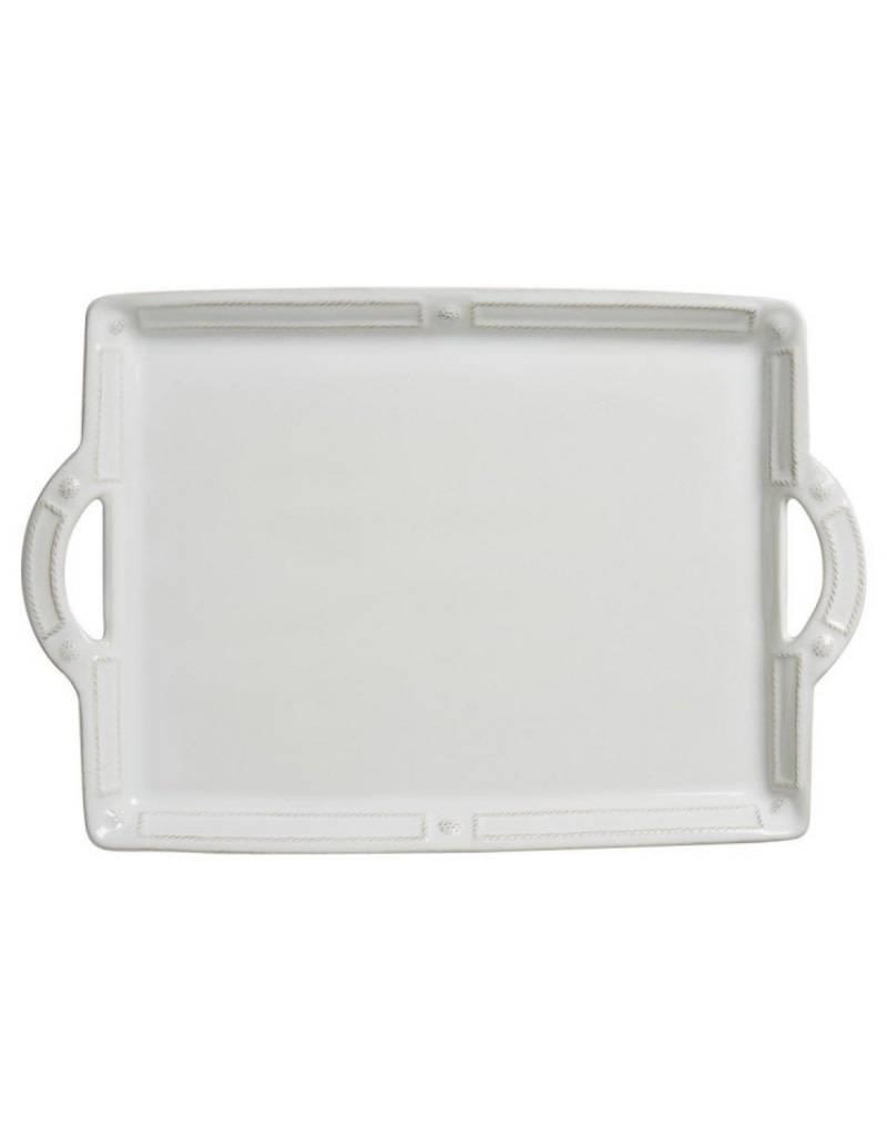"Juliska French Panel Handled Tray/Platter 19"""