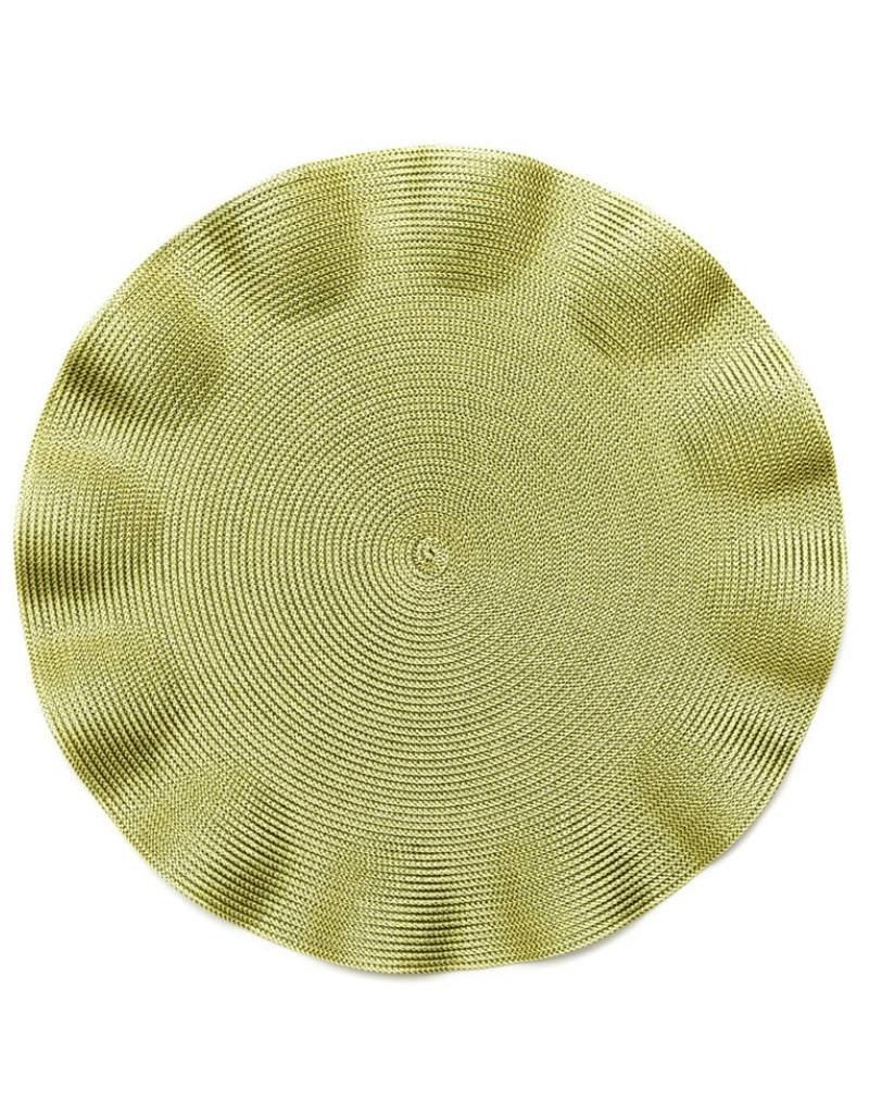 Linen Braid Ruffle Placemat  (Olive)