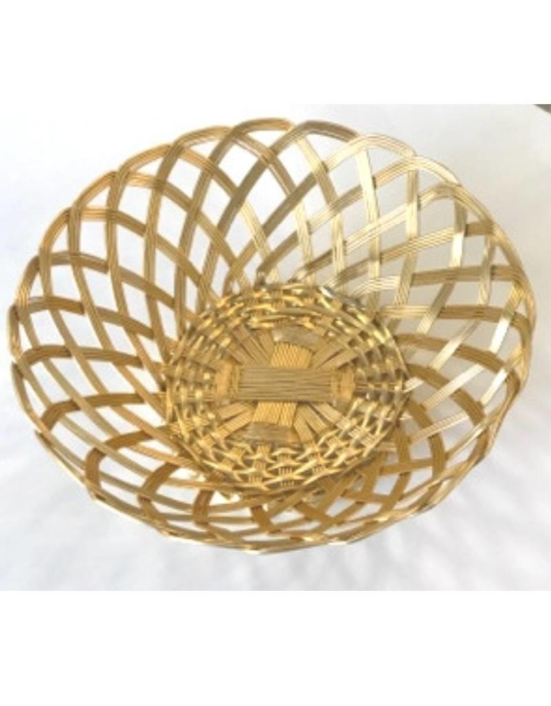 Wire Bread Basket (Gold)