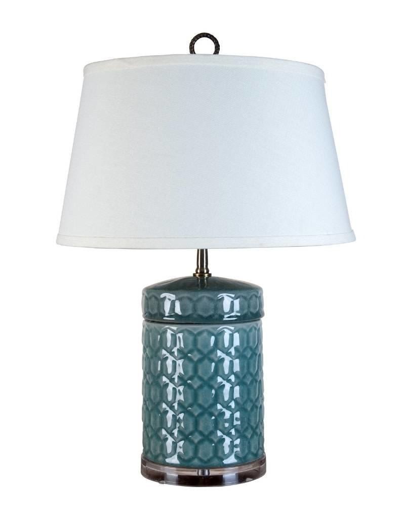 Celadon Honey Comb Jar Lamp