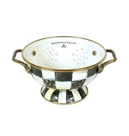 Mackenzie Childs Courtly Check Enamel Colander Small