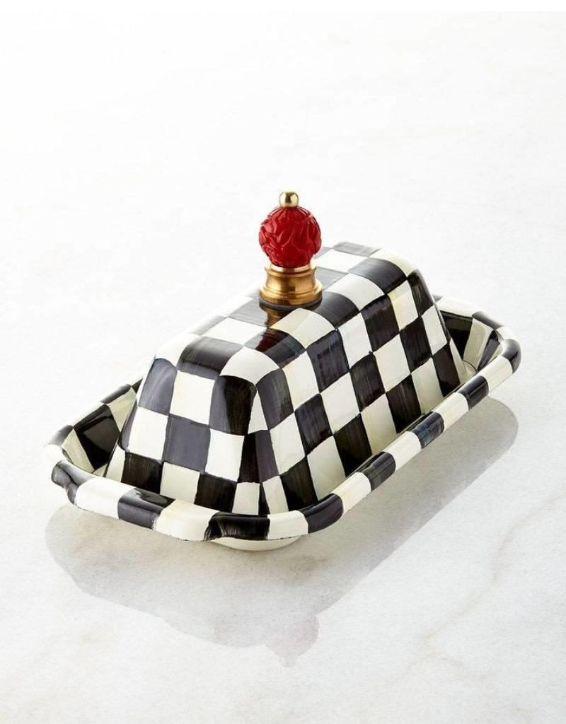 Mackenzie Childs Courtly Check Enamel Butter Box