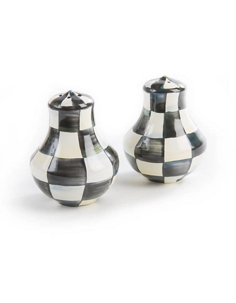 Mackenzie Childs Courtly Check Enamel Salt/Pepper Shakers