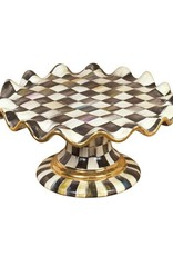 Mackenzie Childs Courtly Check Fluted Cake Stand