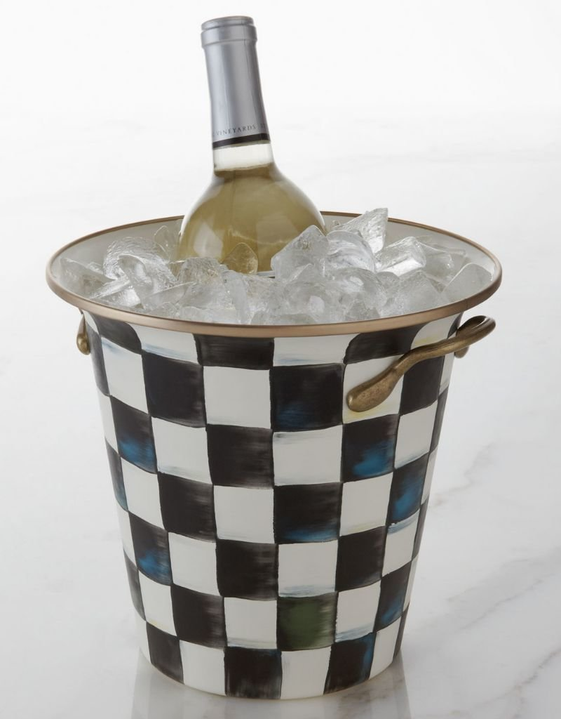 Mackenzie Childs Courtly Check Enamel Wine Cooler