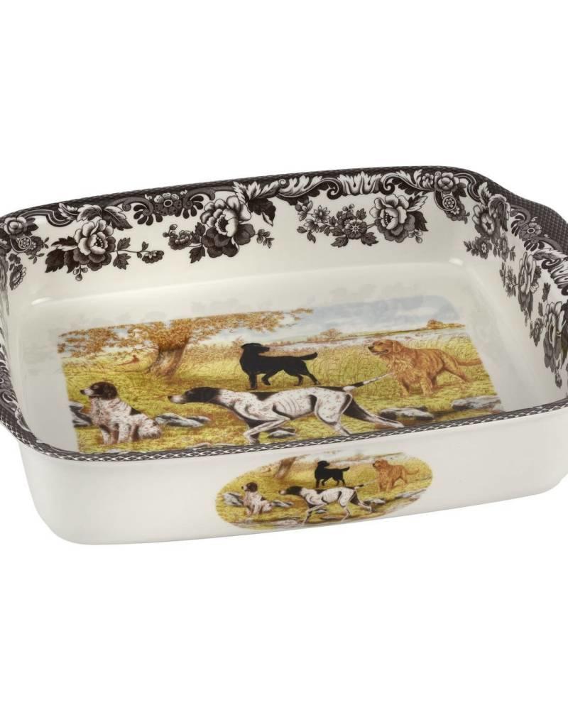 "Spode Woodland Handled Lasagna (Dogs) 15x12"""