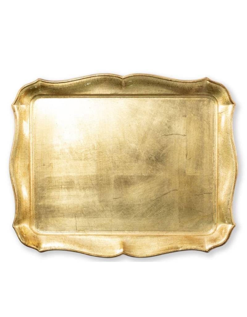 Vietri Florentine Gold Rectangular Tray