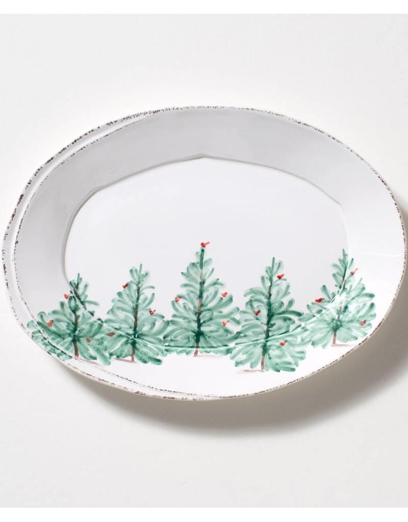 Vietri  Lastra Holiday Oval Platter (Large)